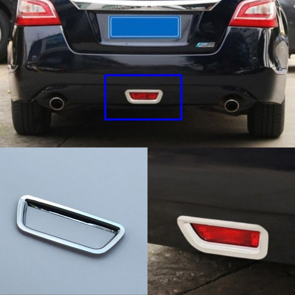 JanDeNing 2 uds ABS cromo trasero niebla embellecedor de cubierta de lámpara de luz para Nissan Teana Altima 2013-2015