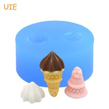 XYL061U One Set 1Pc Mold Icecream Flexible Silicone Mold Silicone Mould - Icrecream Cone and Cream