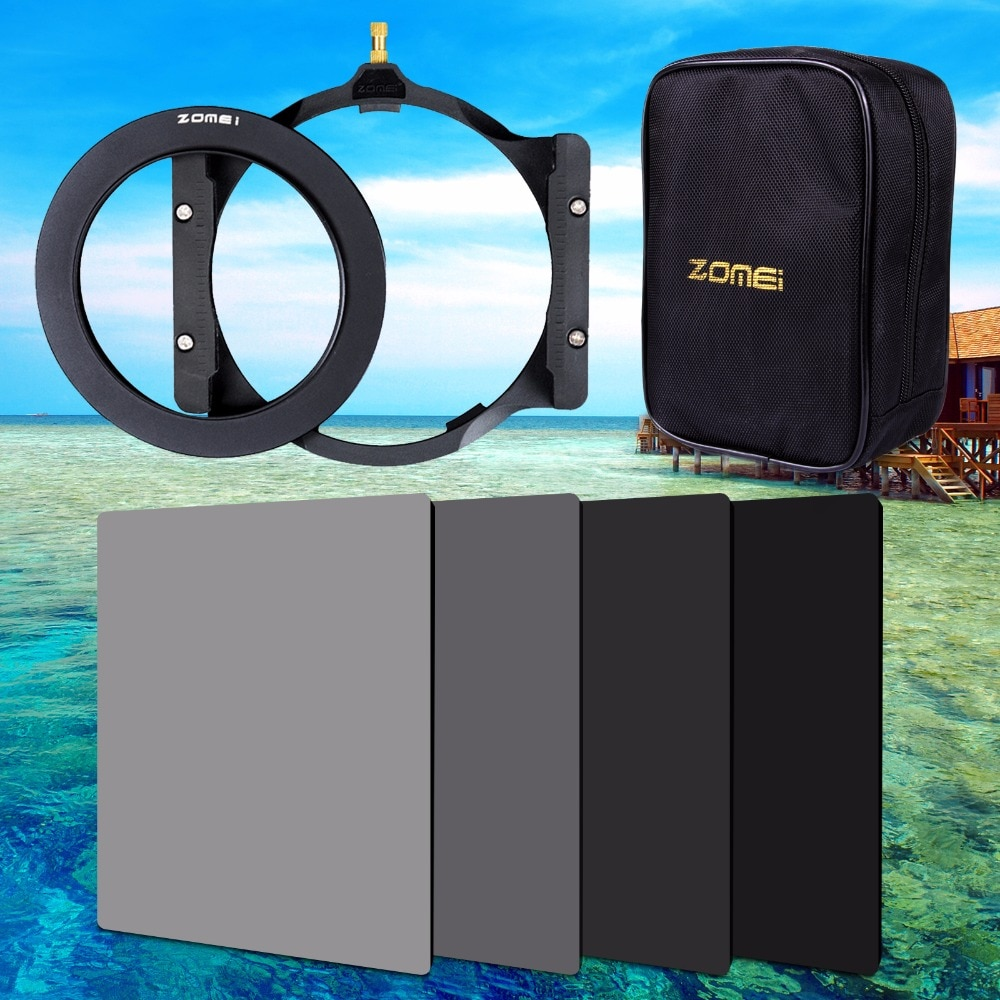 Квадратный держатель фильтра Zomei 150*100 мм ND ND2 ND4 ND8 ND16, 16 шт., переходное кольцо для корпуса 67 мм 72 мм 77 мм 82 мм