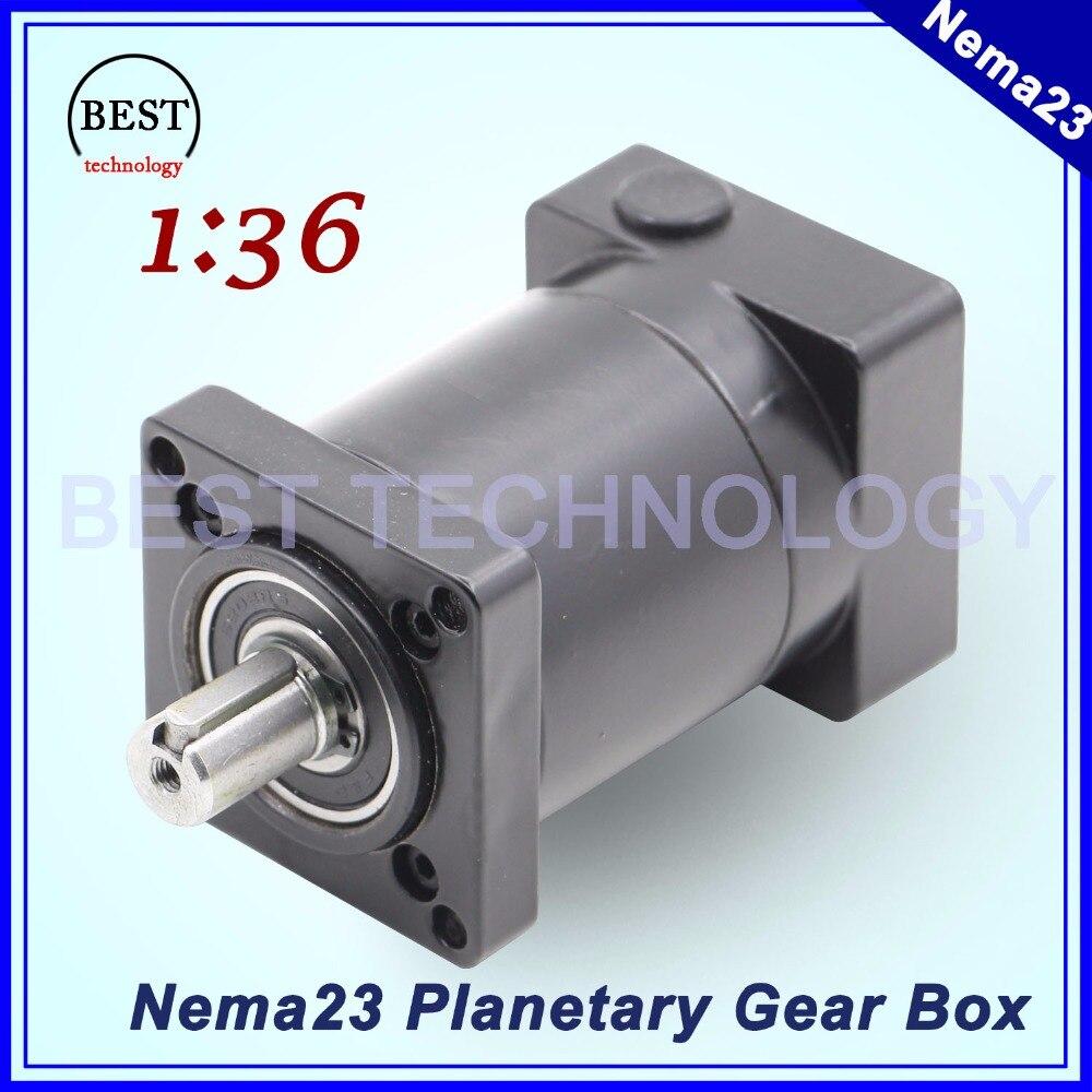 علبة تروس تخفيض كوكبية لمحرك Nema23 ، 1:36 ، 57 مللي متر ، مخفض سرعة المحرك ، تستخدم لعلبة التروس الكوكبية لمحرك Nema 23 بدون فرش