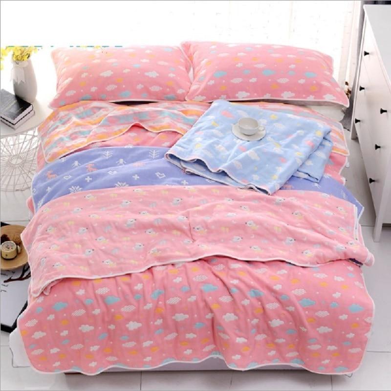 6 Layers Muslin Cotton Blanket Baby Blankets Quilt  Muslin Swaddle Baby Cotton Blanket Infant Wrap Infant Kids Bedding 150*200cm