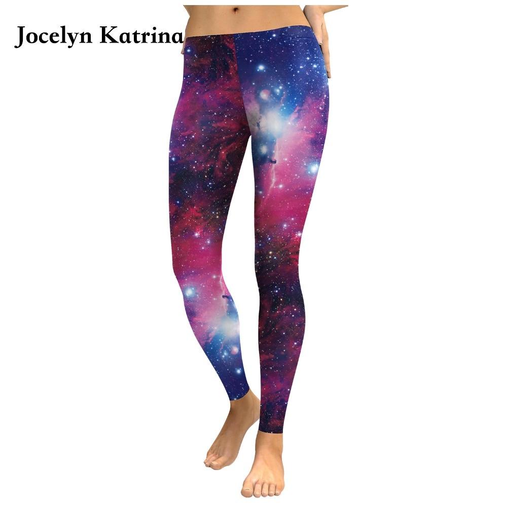 Pantalones de yoga de cintura baja de Jocelyn, nueva galaxia, violeta, estampado 3D, estrella, pantalones ajustados de Europa y Estados Unidos