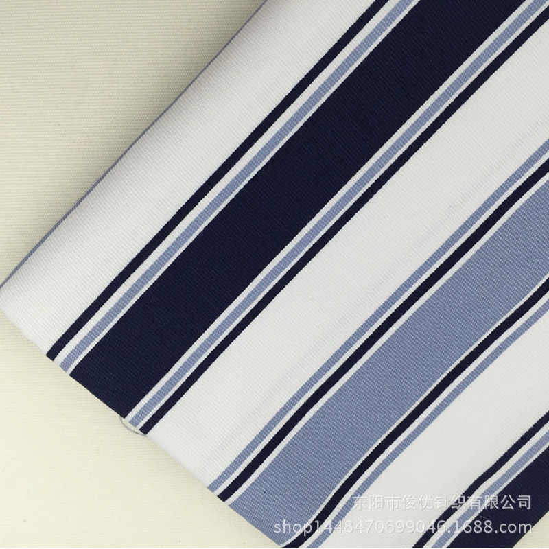 Парусиновая ткань в синюю полоску с принтом хлопковая для домашнего интерьера