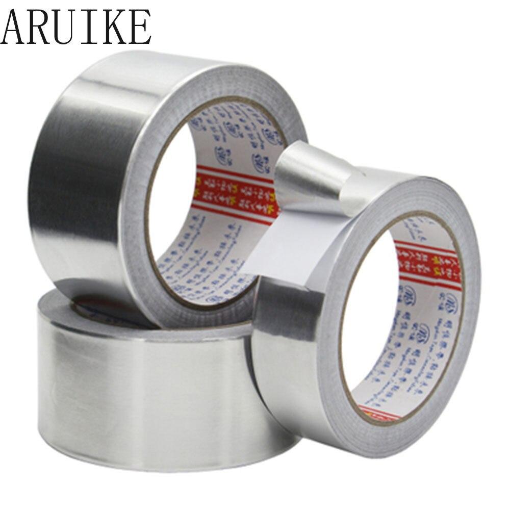 Grosor de la cinta de aluminio 0,07mm L 20M revestimiento de alta temperatura tubo impermeable calentador de agua