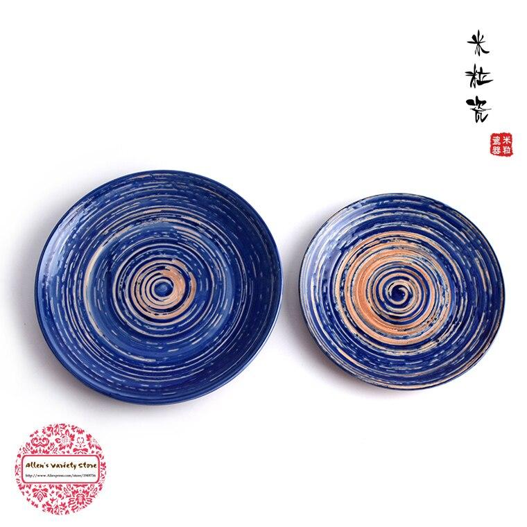 Van gogh azul estrelado noite placa de cerâmica placa de osso churrasco prato sushi placa de prato frio sashimi pratos buffet porcelana