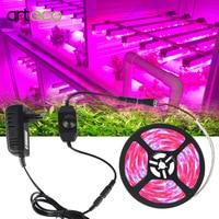 Светодиодный ные фитолампы полного спектра, LED лента s 300 для выращивания растений в теплице и гидропонных систем, 5 м, 5050 светодиодов