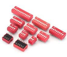 10 pcs/lot commutateur DIP Type de glissière rouge 2.54mm pas 2 rangées DIP interrupteurs à bascule 1 p 2 p 3 p 4 p 5 p 6 p 7 p 8 p 9 p 10 p 12 p
