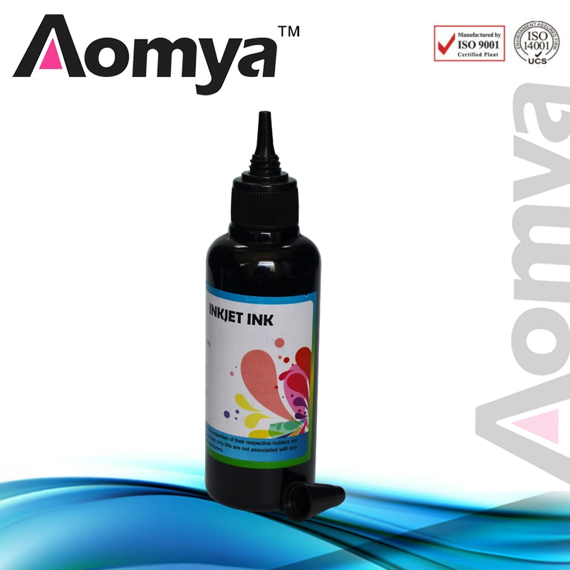 Aomya negro 100ml pigmento de tinta para Epson tinta de impresora universal tinta a granel