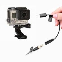 CoMica CVM-GPX femelle 3.5mm Audio câble convertisseur Microphone câble adaptateur universel pour Gopro Hero 3/3 +/4 caméra sportive