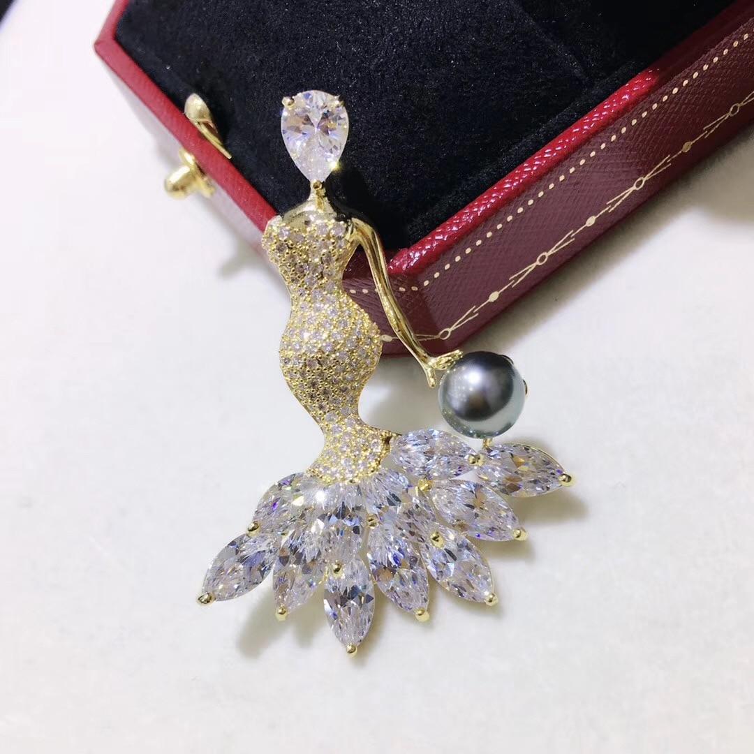 Broche de perlas de lujo para mujer, accesorios de joyería para mujer, componentes de broche de perlas DIY, Clips para bufanda, Color dorado, 3 unids/lote