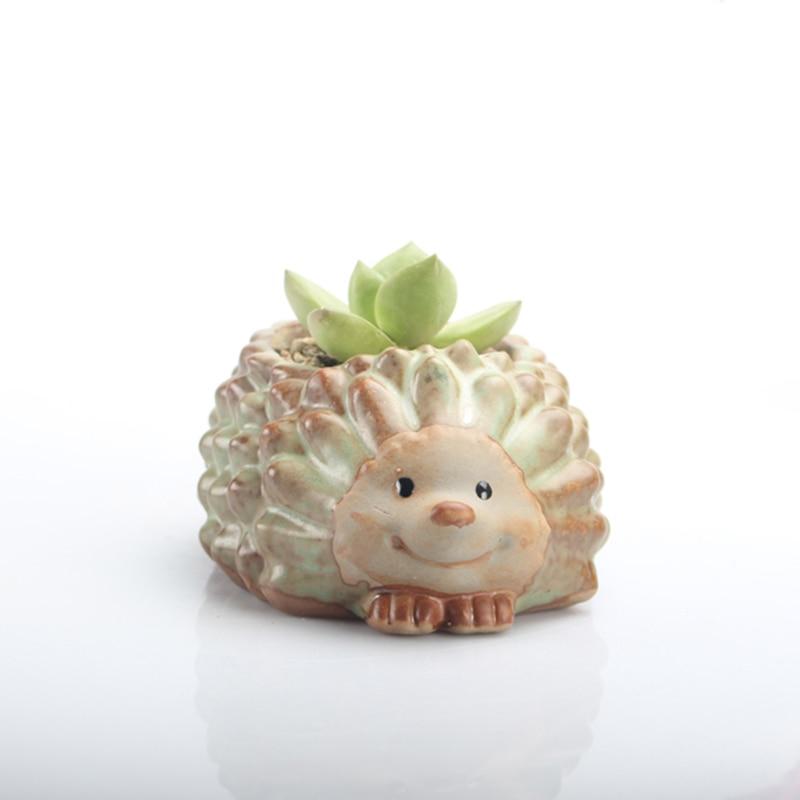 Hedgehog Flowerpot Concrete Silicone Mold For Succulent Plants Cement Clay Pot Molds Animal Plaster Gypsum Mould