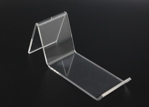 Clear A Acrylic Shoe Support Stand shoes Bracket Holder L-Type Shoe Display stand shelf display desktop shoes holder rack