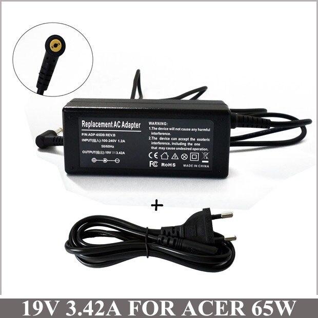 19 V 3.42A 65 W AC adaptador cargador portátil para Acer aspira un D255-1428 D255E-13449 D255E-13455 2000, 2010, 2020, 3000 5336-2634