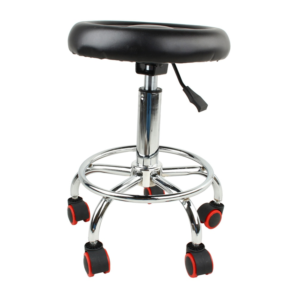 32cm Hydraulic Rolling Swivel Salon Stool Chair Tattoo Massage Facial Spa Height Adjustable Chair With Back for Beauty Salon