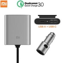 Dorigine Xiaomi Chargeur De Voiture QC3.0 Rapide Version Étendue Accessoire USB-A USB-C Double Port Sortie Smart
