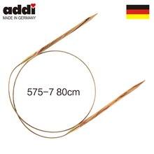 Addi-aiguilles à tricoter circulaires   80 cm, bois dolive 575-7
