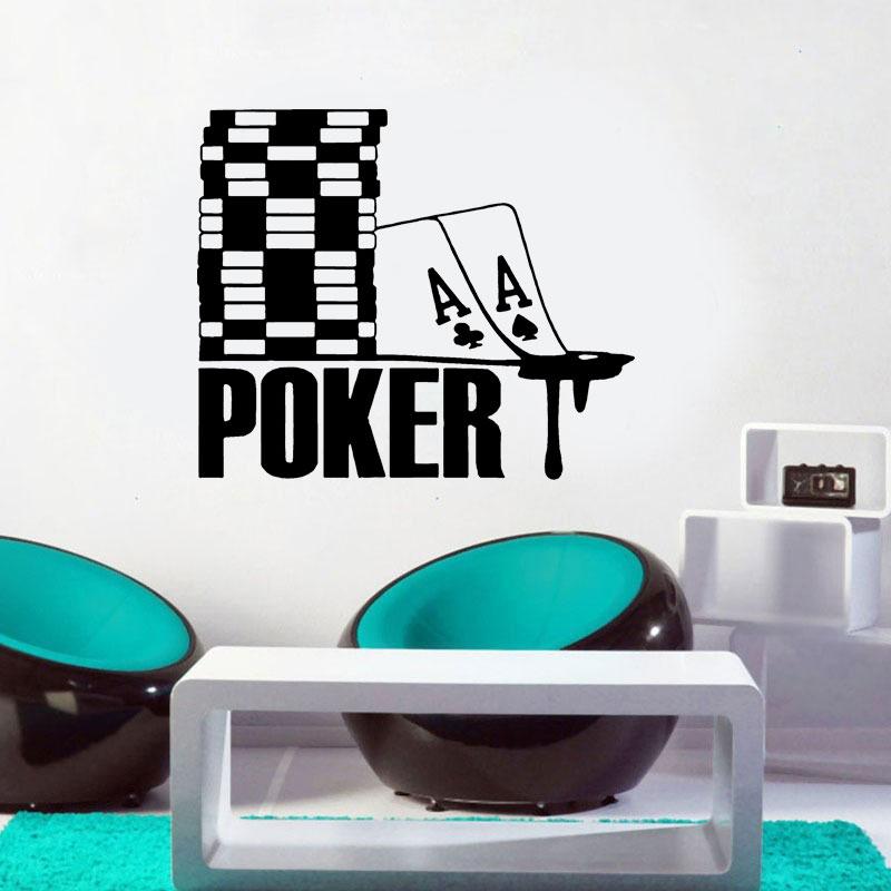 Ace Of Spades, símbolo de póker, fichas, Casino, apuestas, arte de pared, pegatina de vinilo, papel pintado impermeable, Mural moderno para habitación P306