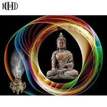 Full Round DIY Diamond Painting Buddha Icon 3D Diamond Cross Stitch Mosaic Crystal Religious Decoration Diamond Embroidery