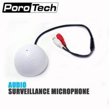 AU10 Microphone CCTV   Dispositif de ramassage audio en forme de Golf haute sensibilité, moniteur audio DC12V, dispositif découte sonore, offre spéciale