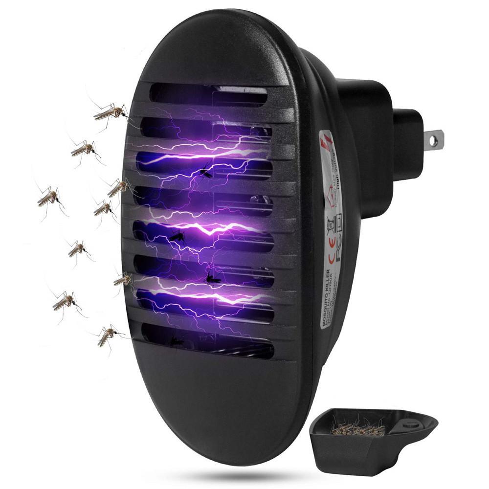 110V ~ 240V 1W LED forma de enchufe de choque eléctrico lámpara antimosquitos al aire libre interior insecto mosca Zapper repelente enchufe de la UE