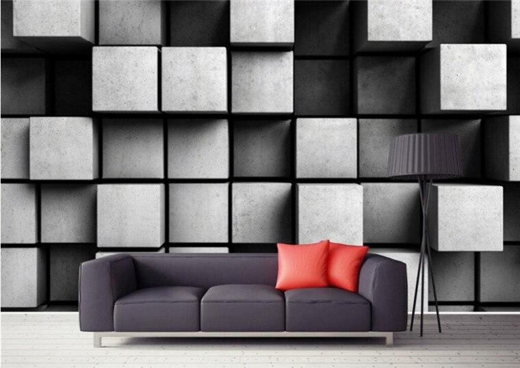 Personalizado 3D Cubo Foto Papel De Parede TV Fundo Papel De Parede Sala de estar Parede Do Quarto papel de parede para paredes 3 d papel tapiz