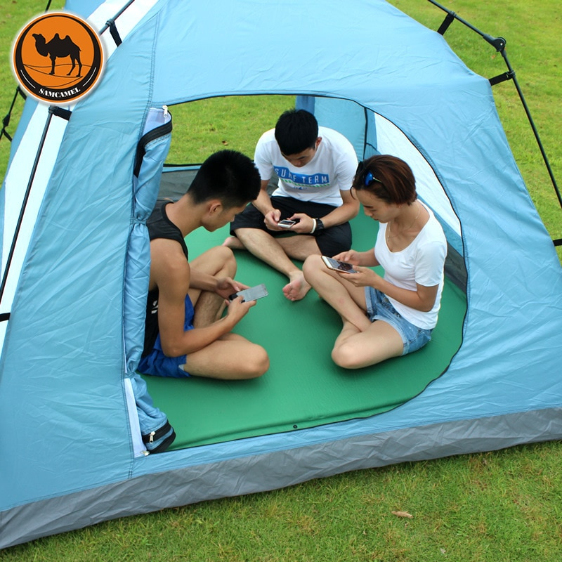 CS-033-3 Broadened 160cm Automatic Inflatable Mattress Outdoor Cushion 190 * 160 * 3.5cm Large Spack Camping Mat For 2-3 Persons