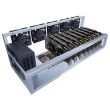 8 Videokaart Gpu Mijnbouw Machine Frame Met 5 Cooling Fans Usb Pci-E Kabel Computer Btc Ltc Munt Mijnwerker Server case