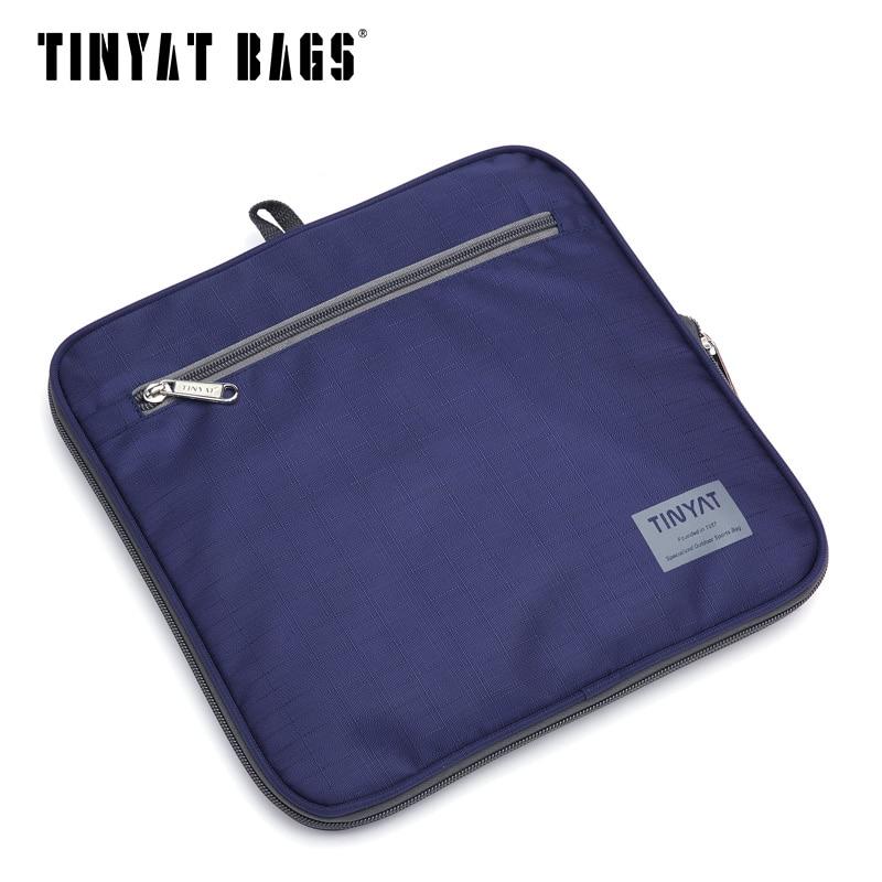 TINYAT Männlichen Männer Reisetasche Folding Tasche Protable Molle Frauen Tote Wasserdicht Nylon Casual Reise Seesack Schwarz gepäck T-306