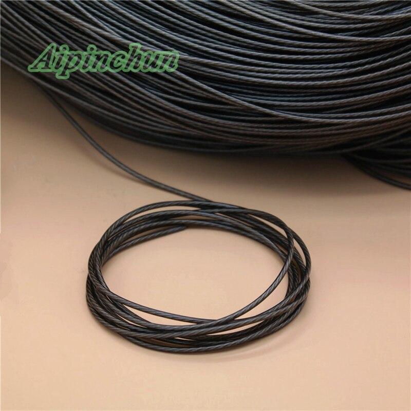Aipinchun 5 metros/lote de Grey cable para auriculares de audio de repuesto de chapado en plata OCC 2-Alambre de núcleo de A15