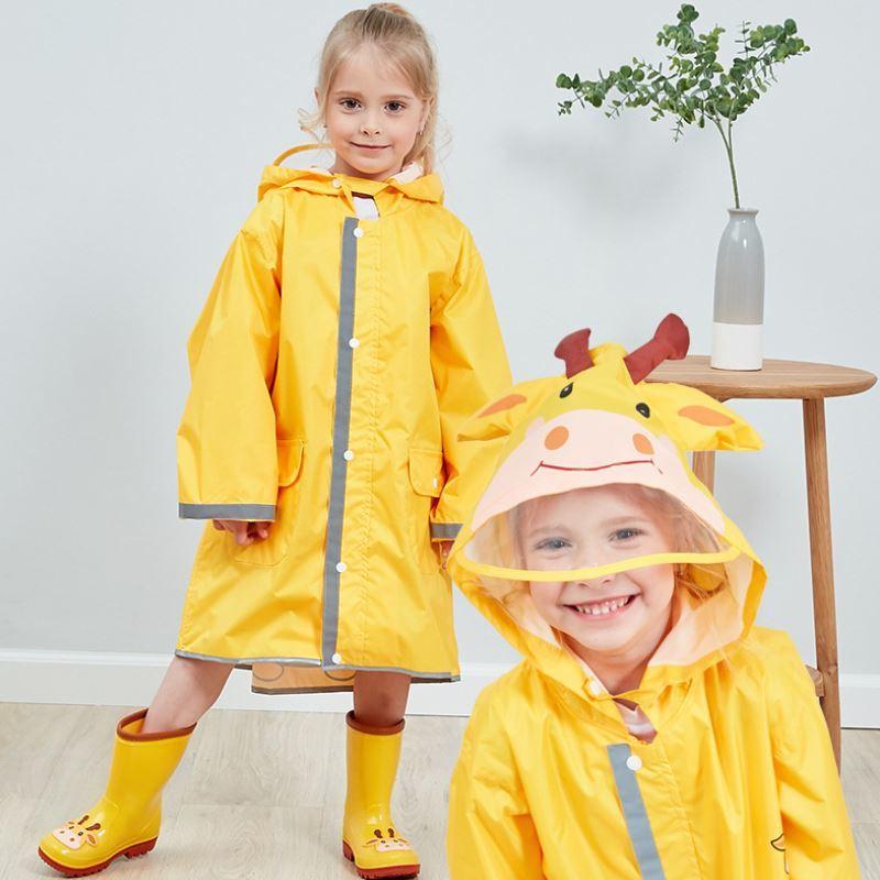 2-10 Years Old Children Cartoon Raincoat Kids  Waterproof Easy To Fold Poncho  Baby Boy Girl Rainwear Raincover  Free Shipping