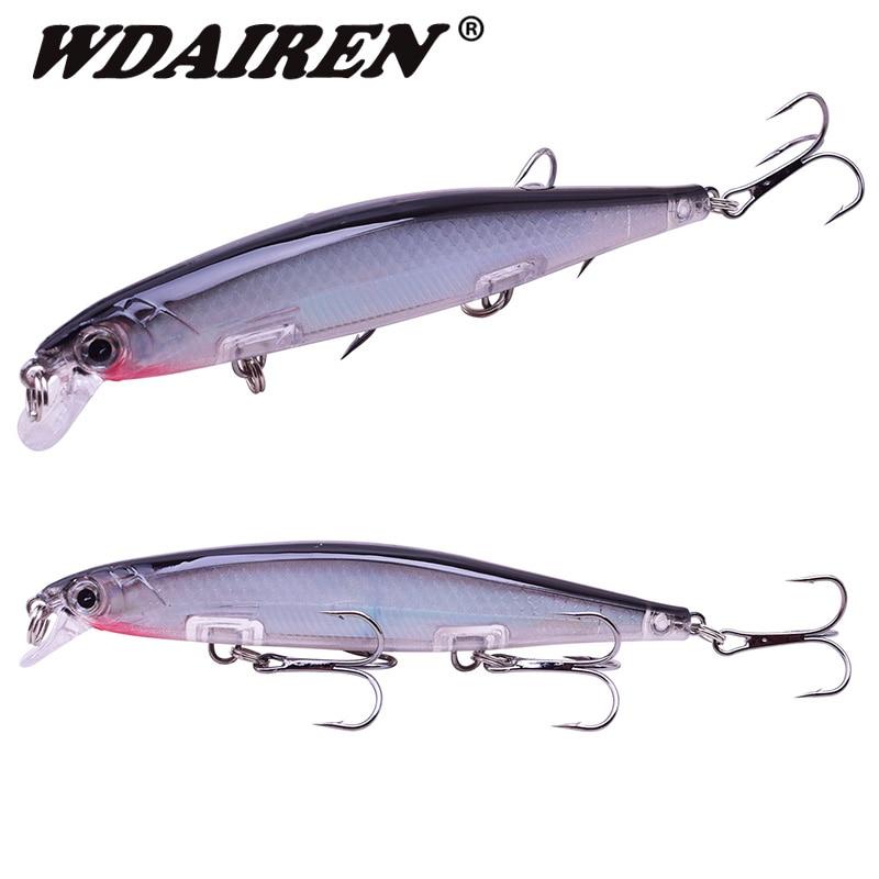 1Pcs Minnow Fishing Lure 11cm 13.5g Floating Wobblers Tackle Pesca Artificial Hard Bait 3 Hook Crankbait Bass carp Lures WD-531