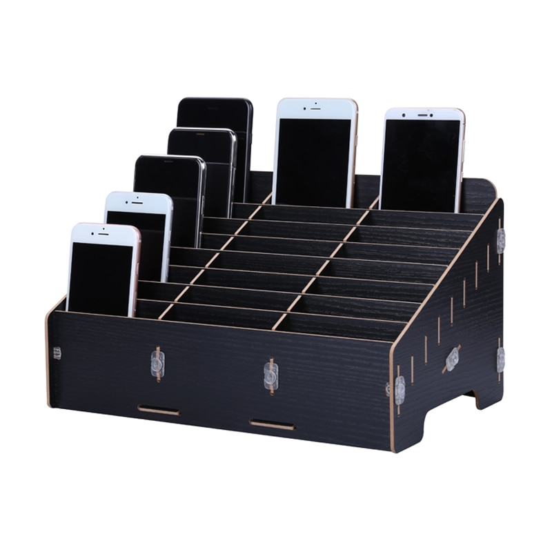 Multifuncional herramienta de reparación de teléfonos móviles caja de madera caja de almacenamiento de caja de herramientas inteligente para herramienta de reparación de teléfonos Kit