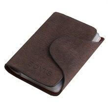 KUDIAN ours Vintage crédit porte-carte 20 fente pour carte porte-carte didentité daffaires porte-carte en cuir PU hommes porte-carte portefeuille BIH016 PM49