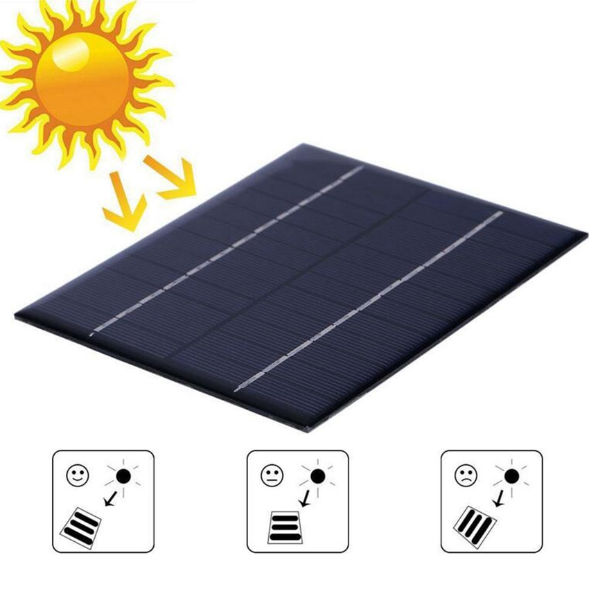 Zerosky alta calidad 12V 2W 160mA silicio policristalino Mini Módulo de Panel Solar para cargador DC batería DIY 136x110mm