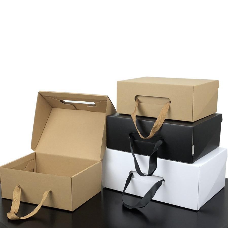 Umwelt Freundliche Kraft Papier Geschenk Box Schwarz/Gelb Faltbare Individuelles Logo Karton Verpackung Box Geeignet Für Kleidung Schuhe