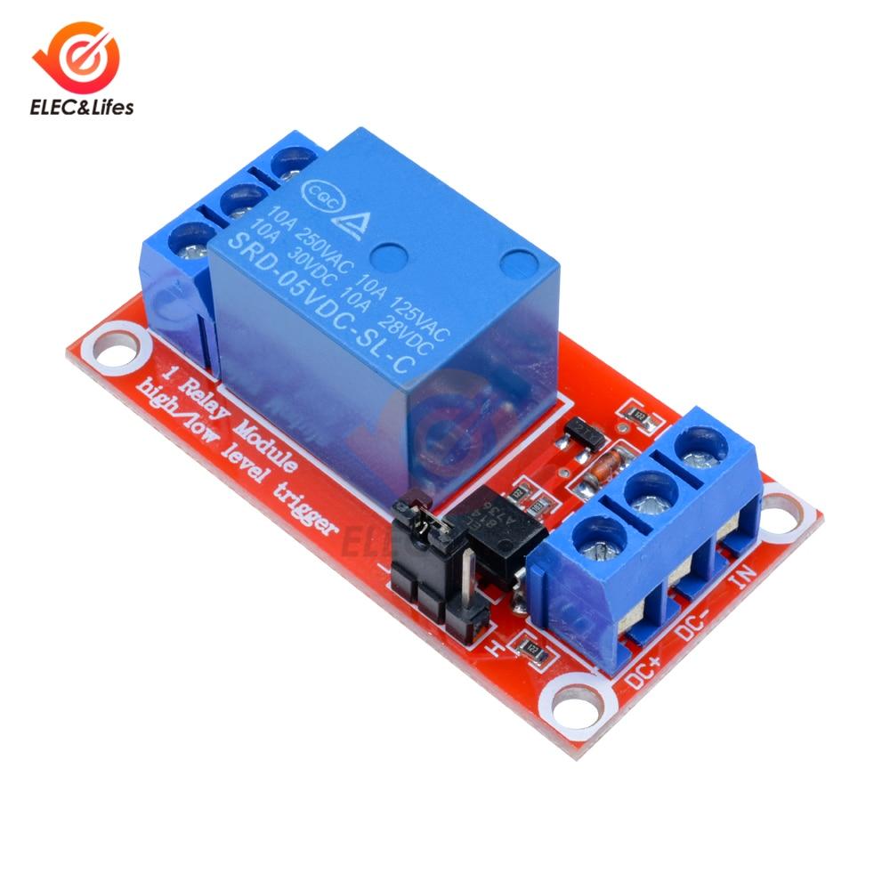 1 kanal Relais Modul 5 V 9 V 24 V High/Low-Level-Trigger Schalter Relais Steuerung mit optokoppler für Arduino