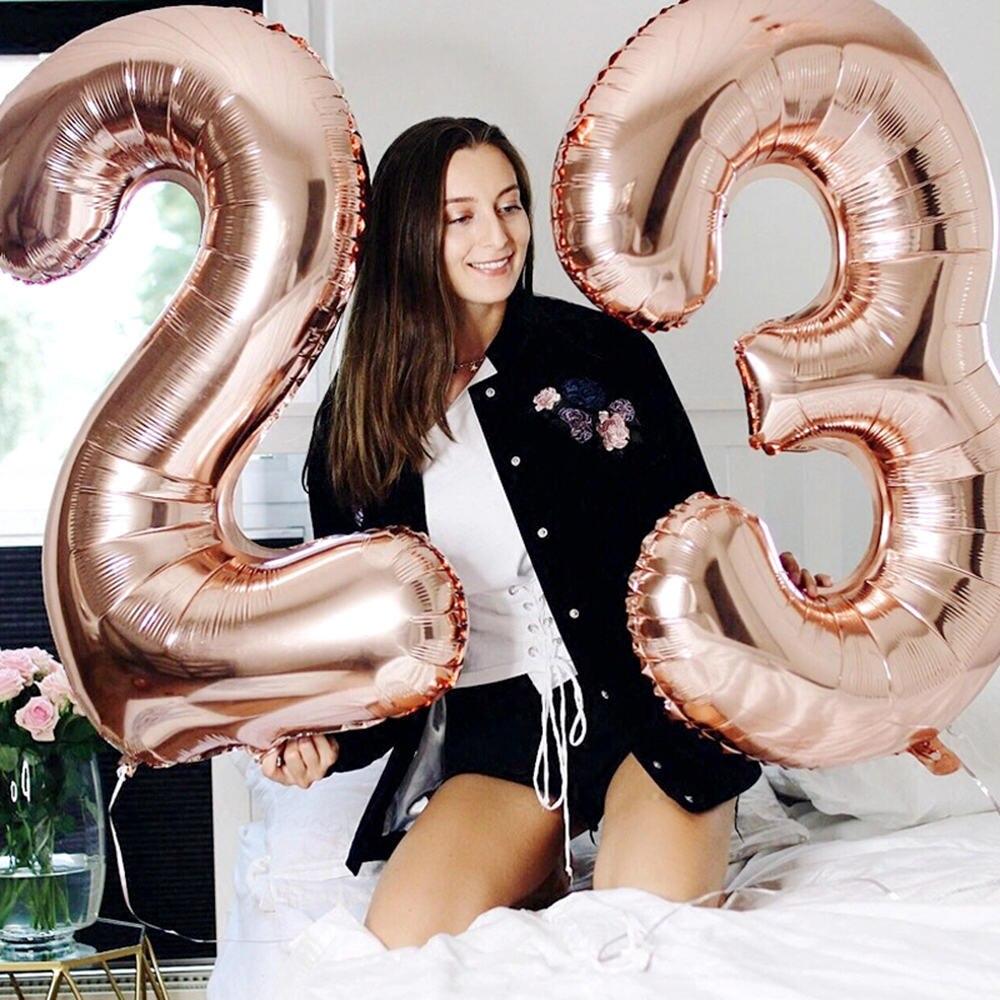 16 ''32'' количество фольги шары розовое золото серебро игрушка воздушный шар детский душ свадьба день рождения украшения Детские шары Globos