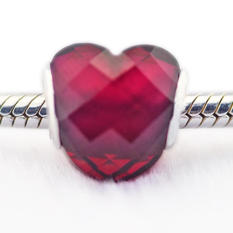 DIY Подходит для Pandora шармы браслеты фуксия любовь бусины с розой CZ 925 пробы