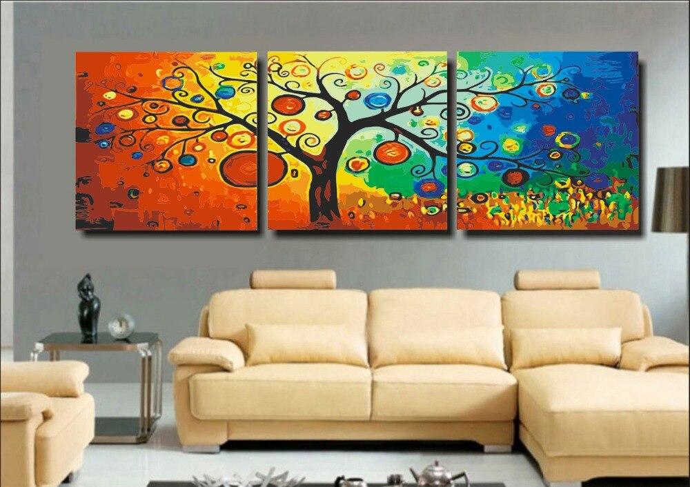 Tamanho Grande pintura diy por números sobre tela sem moldura decoração de casa digital do retrato da parede pintura coloração por números Rica Árvore