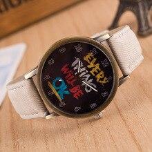 MEIBO Men English Words Design Analog Dial Leather Watchband Quartz Wrist Watch relogio Clock Brand