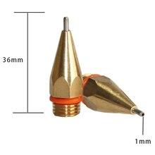 Chaud-petit Apture diamètre 1Mm 1.3Mm buse colle chaude cuivre buse, 1X36Mm 1.3X42Mm