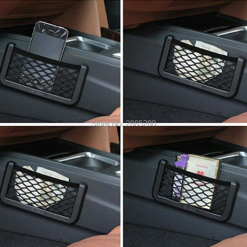 Organizador de armazenamento do assento carro net saco organizador para 4x4 peugeot 3008 hyundai i30 skoda h7 volkswagen golf 4 ford focus 3 bmw e46