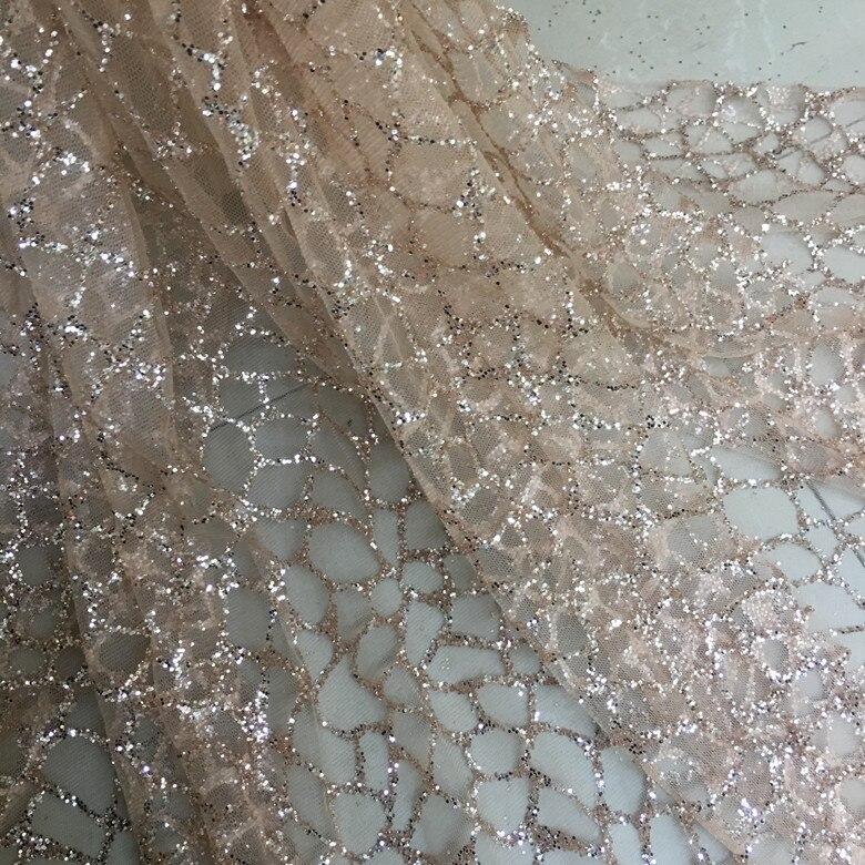 Rede lantejoulas tecido bordado laço tecido vestido de casamento tule saia material tecidos para retalhos kumas telas por metros