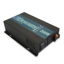 Onduleur onde sinusoïdale Pure 2500W 24V à 220V   Convertisseur dalimentation électrique solaire de 12V/36V/48V cc à 110V/120V/230V/240V AC