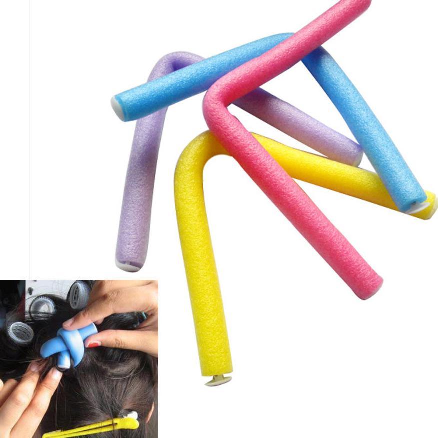 Juego de 10 Uds de rizadores, esponja de espuma suave, giro flexible, rizos estilismo DIY, rodillos para el cabello 2JAN17