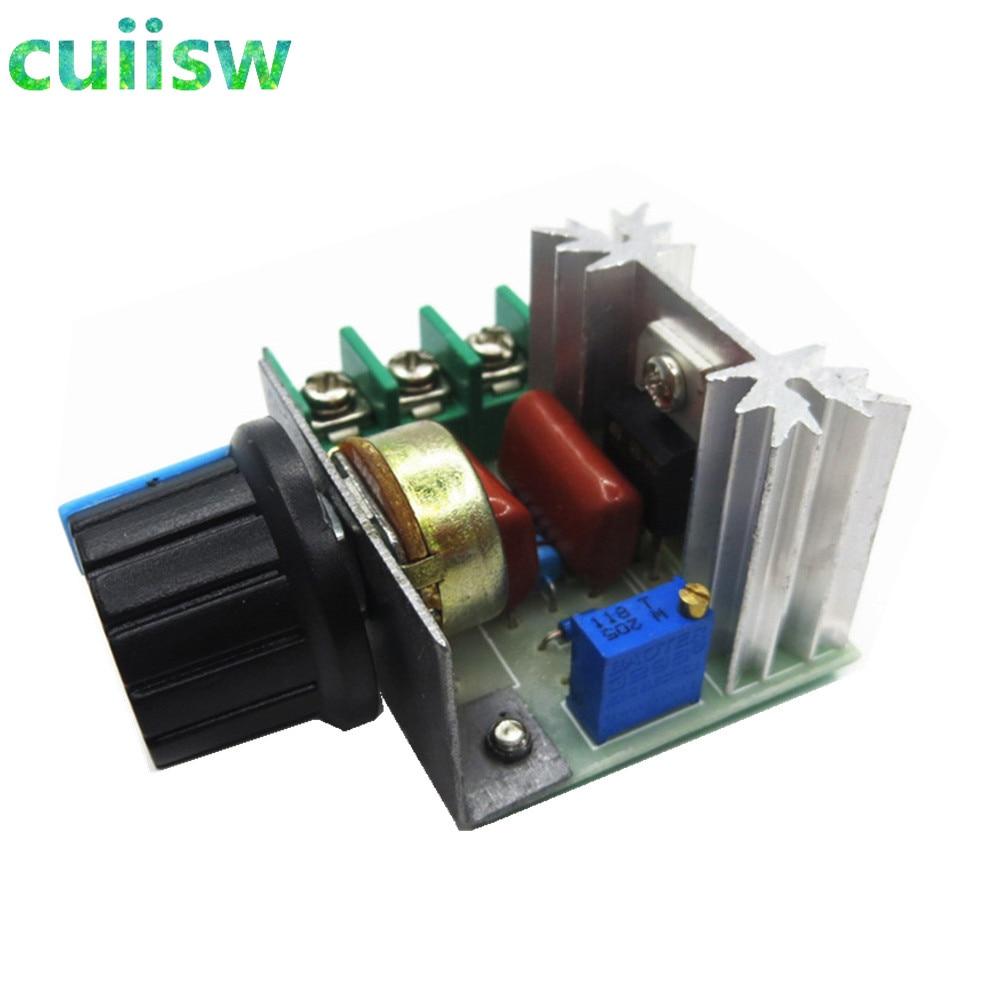 10 unids/lote AC 220V 2000W SCR regulador de voltaje oscurecimiento regulador de velocidad termostato