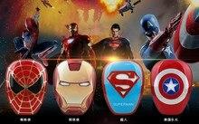 Vengadores nueva caricatura Iron Spider Superman Captian Power Bank 8000mAh batería externa portátil de alta calidad