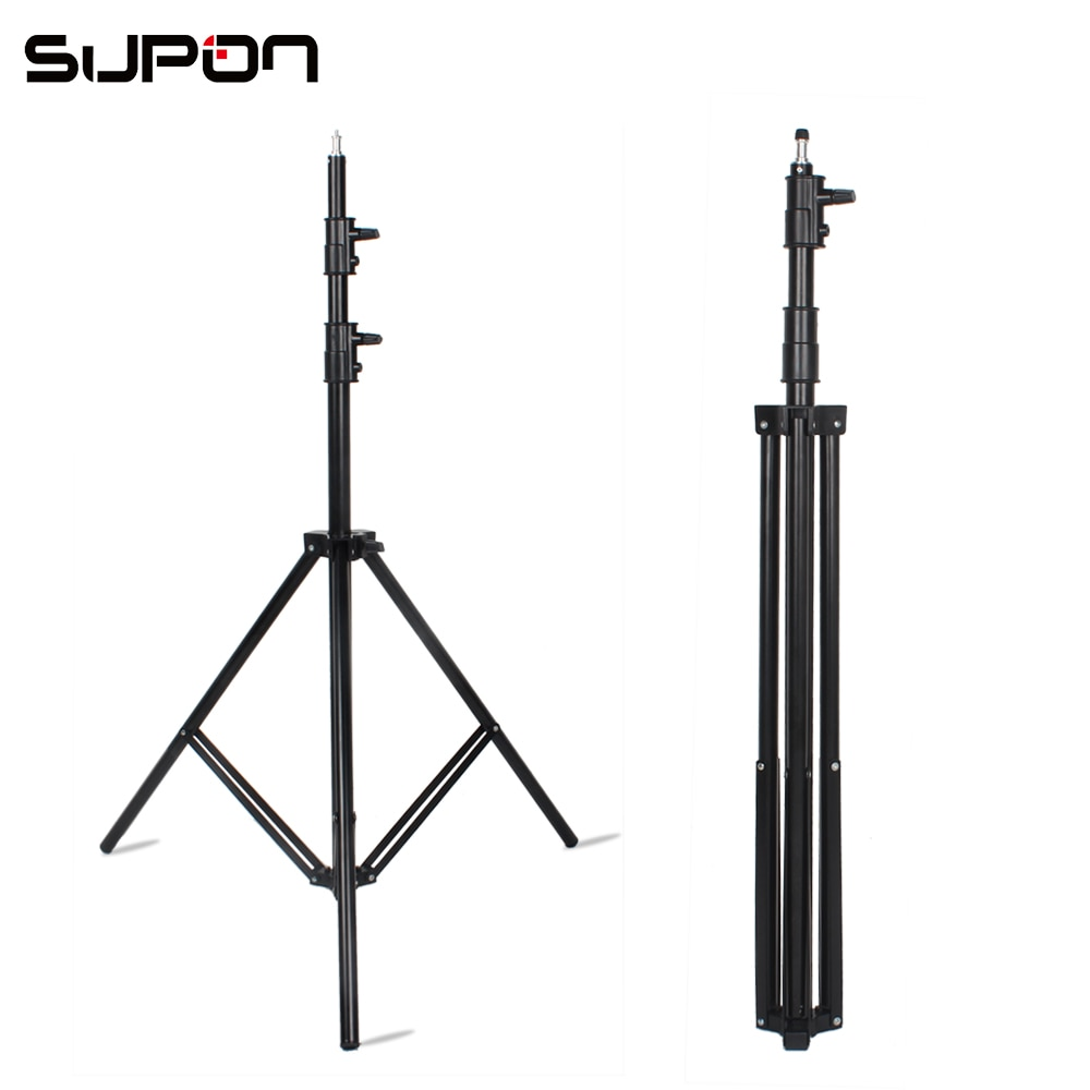 Godox 280cm 2,8 m 9FT Pro soporte de luz de trabajo pesado para la estación de TV de Fresnel de tungsteno ligero, Trípodes para estudio de fotografía