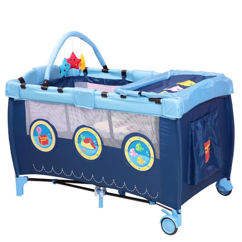سرير أطفال قابل للطي قابل للطي قابل للطي سرير أطفال روضة أطفال سرير أطفال مدمج ومحمول سرير أطفال سرير للعب