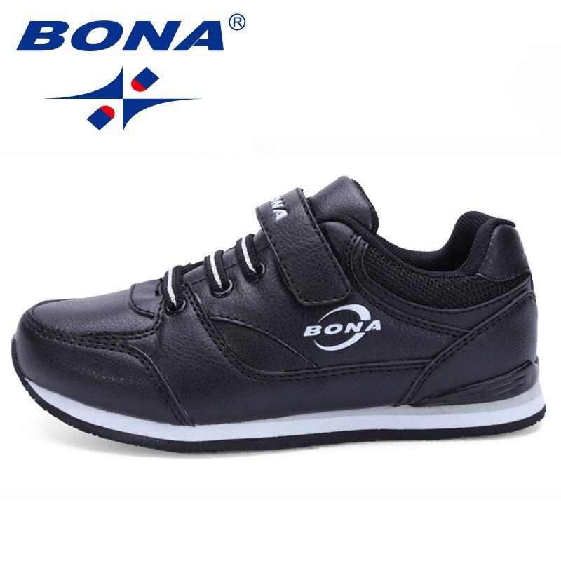 Bona novo estilo clássico designer crianças sapatos casuais hook loop meninos & meninas tênis sapatos crianças apartamentos sapatos rápido frete grátis